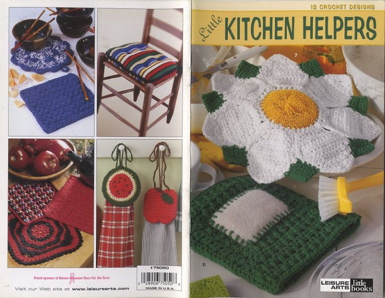 Leisure Arts Little Books Crochet Little Kitchen Helpers Patterns 75050