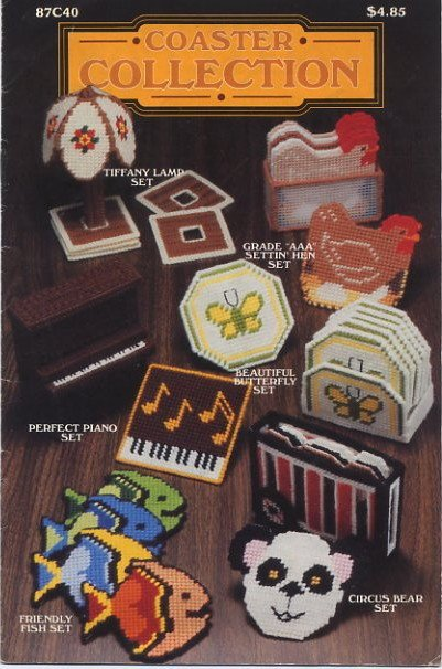 Annie's Attic Coaster Collection Plastic Canvas Patterns 87C40