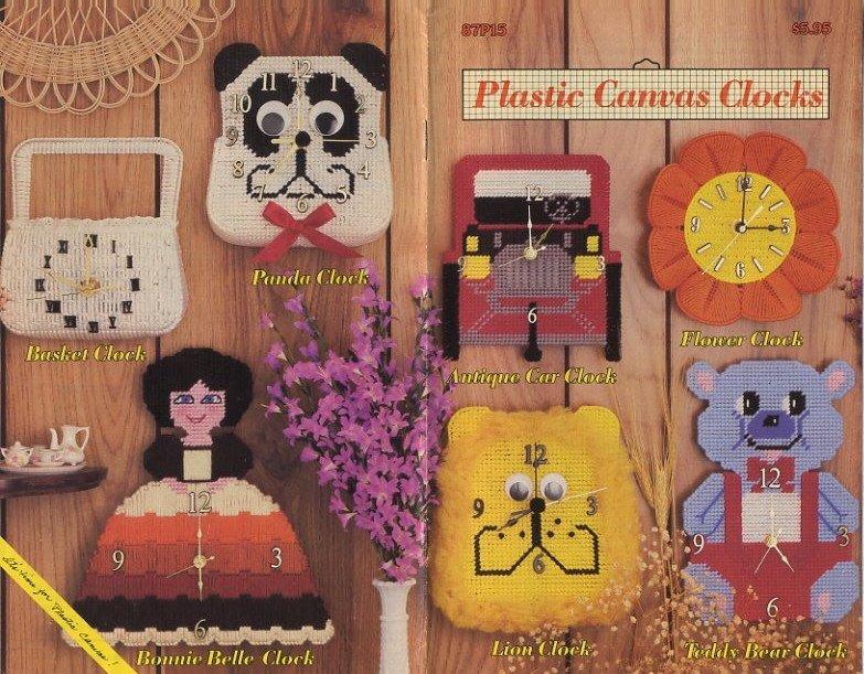 Annie's Attic Plastic Canvas Clocks Patterns 87P15