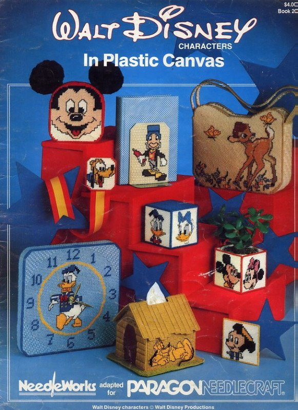 Walt Disney Characters In Plastic Canvas Book 2005 Paragon Needlecraft