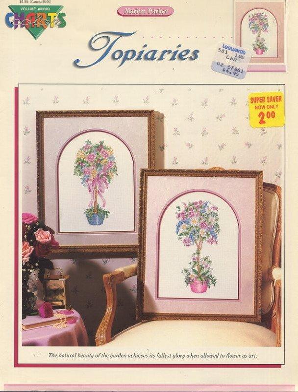 Marion Parker Topiaries Cross Stitch Leaflet - Color Charts Volume #00903
