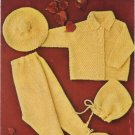 Brunswick Pram Set Style No 6420 Knitting Pattern