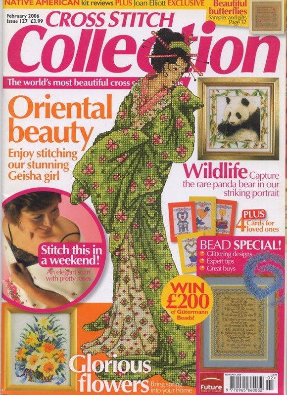 Cross Stitch Collection UK Magazine Issue 127 Feb 2006