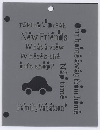 The Crafters Workshop Vacation Phrases Mini Template PH5BS