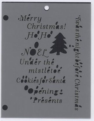 The Crafters Workshop Christmas Phrases Mini Template PH6BS