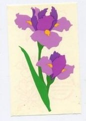 Mrs Grossman's Purple Iris Sticker #8P
