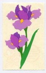 Mrs Grossman's Purple Iris Sticker #8Q