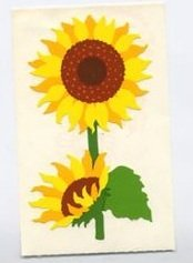 Mrs Grossman's Yellow Sunflower Sticker #8M