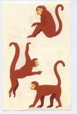 Mrs Grossman's Brown Monkey Stickers #4E