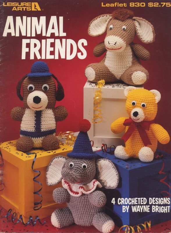 Animal Friends 4 Crocheted Designs By Wayne Bright Leisure