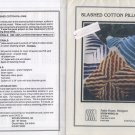 Slashed Cotton Pillow Pattern - Woven Works Ltd, Pattie Frazer