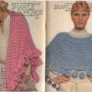 Shawls & Ponchos Coats & Clark's Book 207 Crochet - Knit - Hairpin Lace