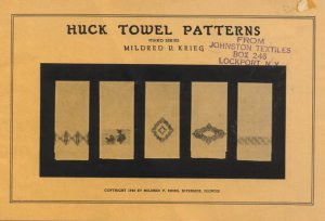 Huck Towel Patterns - Third Series by Mildred V. Krieg