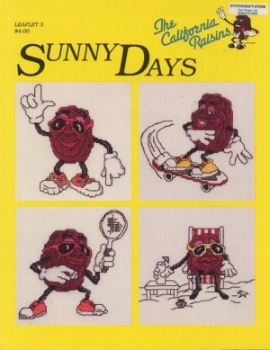 The California Raisins Sunny Days Cross Stitch Pattern Leaflet 3