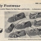 Family Footwear Slippers Pattern Coats & Clarks Leaflet C.905