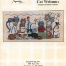 Cat Welcome Cross Stitch Pattern - Imaginating 1469