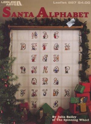 Santa Alphabet Cross Stitch Pattern Leisure Arts 887