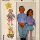 Simplicity 8887 Toddlers' Pullover Top and Pull-On Pants and Skirt Sz 2 - uncut
