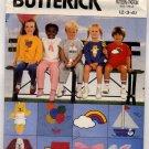 Butterick 6972 Children's T-Shirt, Shorts, Pants & Transfer size 2-3-4 - Uncut