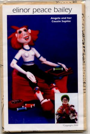 "Elinor Peace Bailey ""Angela and her cousin Sophie"" Cloth Doll Pattern - uncut"