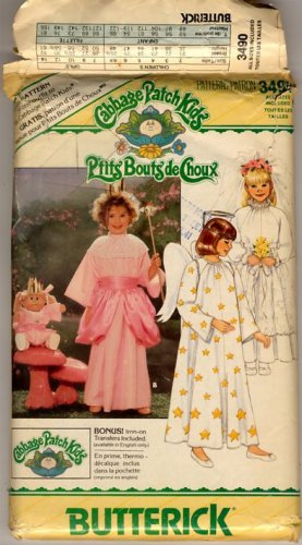 Butterick 3490 Cabbage Patch Kids Girls Costumes Pattern - Uncut - Angel, Bride, Princess