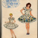 Ladies' Square Dance Dress Pattern Size 6 - 8 - 10 - Authentic Patterns Inc 321 - Uncut