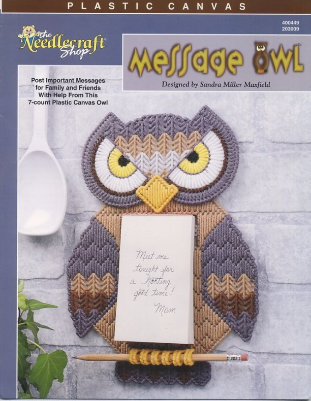 Plastic Canvas Message Owl Patterns The Needlecraft Shop