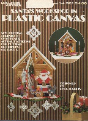 Santa's Workshop in Plastic Canvas - Leisure Arts Leaflet 361