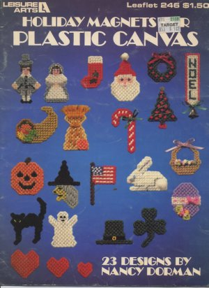 Holiday Magnets For Plastic Canvas - Leisure Arts Leaflet 246