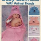 Baby Blankets With Animal Hoods - Leisure Arts Crochet Leaflet 2164