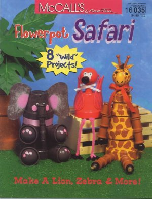 Flowerpot Safari - Book 16035 by McCall's Creates