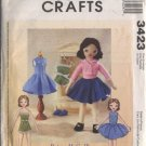 McCall's Crafts 3423 Retro Betsy Doll and Clothes Pattern - uncut