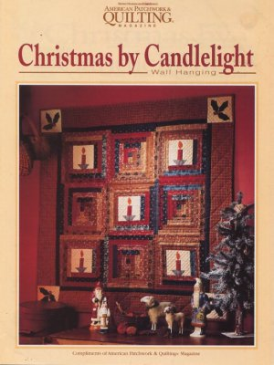 Christmas by Candlelight Wall Hanging Pattern