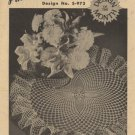 Pineapple Pirouette Crochet Leaflet Design No. S-973 Coats & Clark's