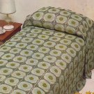 Crochet Motif Bedspread - Coats Mercer - Crochet Design Leaflet 1078
