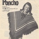 Beautiful Poncho to Knit - Coats & Clark Leaflet W.976