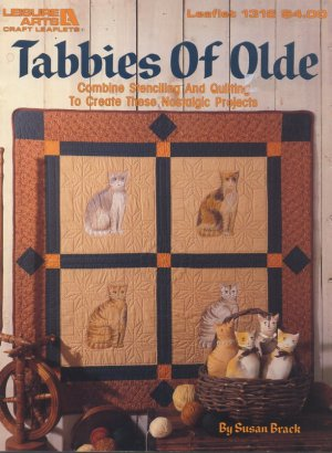 Tabbies Of Olde - Combine Stenciling & Quilting Book Leisure Arts Leaflet 1316