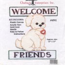 Outback Enterprises Plastic Canvas Welcome Friends Pattern Only From Kit 4592