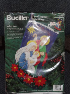 1996 Bucilla The Holy Family Felt Applique Stocking Kit