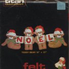 1983 Titan Needlcraft Teddy Bear Felt Wall Hanging Kit - Unopened