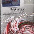1998 Design Works Crafts Plastic Canvas Kit Santa Coasters - 1191 - Unopened