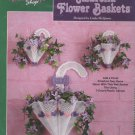 The Needlecraft Shop Plastic Canvas Kit Umbrella Flower Baskets - Unopened