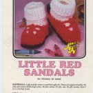 Annie's Attic Baby Bootie Boutique II Little Red Sandals Crochet Pattern 371