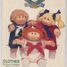 Cabbage Patch Kids Clothes Butterick Pattern 3151 - Uncut