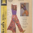 McCall's Wrap-Around Pantskirt Pattern 3230 Size Medium Waist 26 1/2 - 28 Uncut