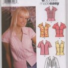 Simplicity 5194 Misses' Blouse with Sleeve and Trim Variations Sz 6, 8, 10, 12 - Uncut