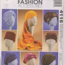 McCall's Fashion Accessories 4116 Turbans, Headwrap and Hats - Uncut