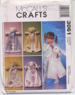 McCall's Crafts 3061 Blanket Buddies - Uncut