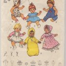 "Simplicity 7208 Wardrobe For Baby Dolls, Medium 15"" - 16"" Dolls Pattern - Uncut"