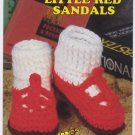 Annie's Attic Big Foot Boutique II Little Red Sandals Crochet Pattern 440